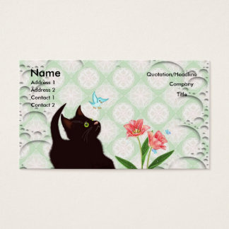 cute kitten business cards