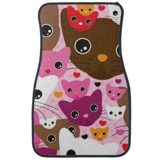 cute kitten cat background pattern car floor mat