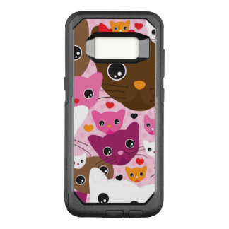 cute kitten cat background pattern OtterBox commuter samsung galaxy s8 case