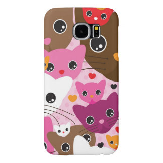 cute kitten cat background pattern samsung galaxy s6 case