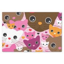 cute kitten cat background pattern tissue paper