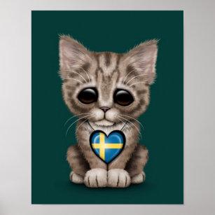 swedish cat art wall décor zazzle