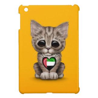 Cute Kitten Cat with UAE Flag Heart, yellow iPad Mini Cases