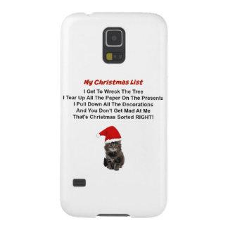 Cute Kitten Christmas Samsung Galaxy S5 Case