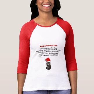 Cute Kitten Christmas Women's 3/4 Sleeve T-Shirt