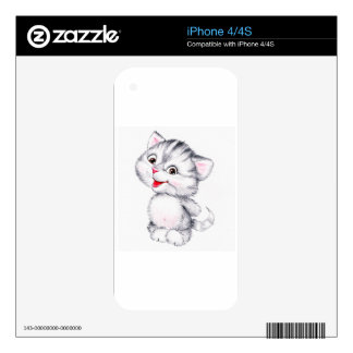 Cute kitten decals for the iPhone 4S