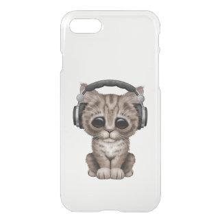 Cute Kitten Dj Wearing Headphones iPhone 7 Case