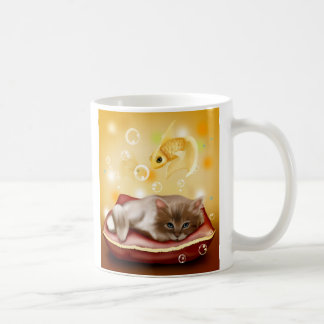 Cute kitten Dreams Coffee Mug
