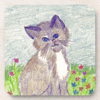 Cute Kitten Drink Coaster