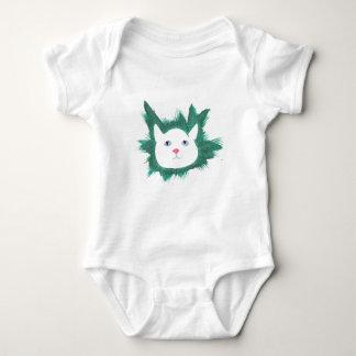 Cute Kitten face in grass tshirt