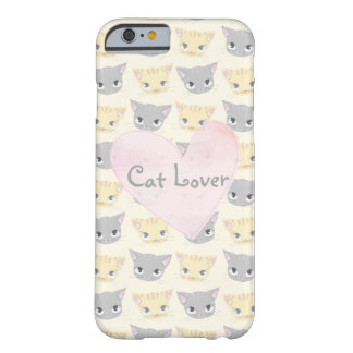 Cute Kitten Face Pattern Barely There iPhone 6 Case
