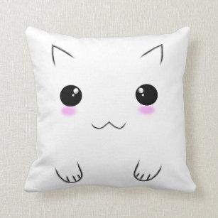 Kawaii Faces Pillows Decorative Amp Throw Pillows Zazzle