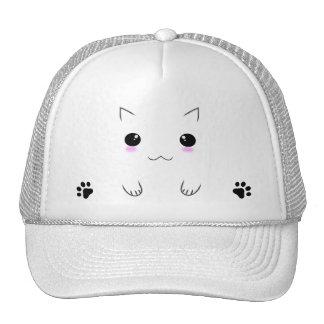 Cute Kitten Face & Paw Prints Trucker Hat