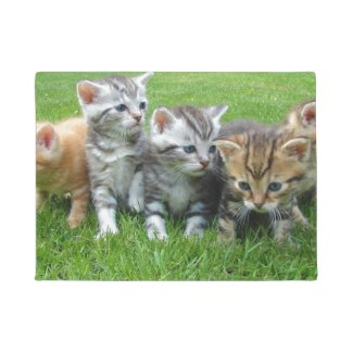 Cute Kitten Family Doormat