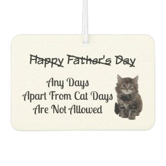 Cute Kitten Fathers Day Car Air Freshener