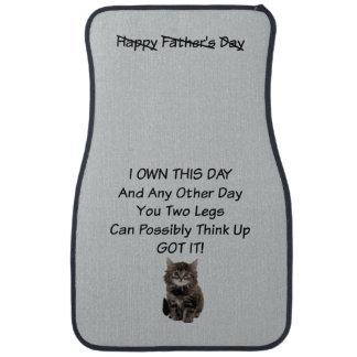 Cute Kitten Fathers Day Car Mats