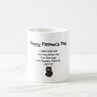 Cute Kitten Fathers Day Mug