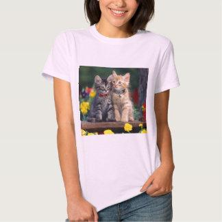 Cute-Kitten flower t shirt