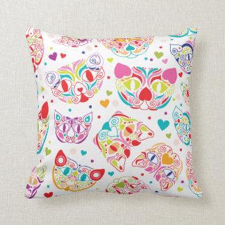 Cute kitten folklore cat pattern pillow