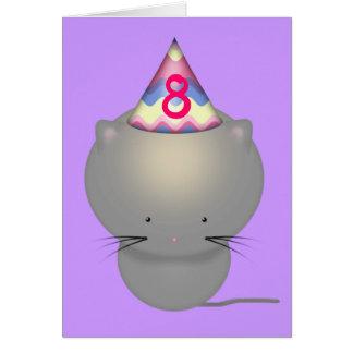 Cute Kitten Girls Birthday Card Eight Year Old