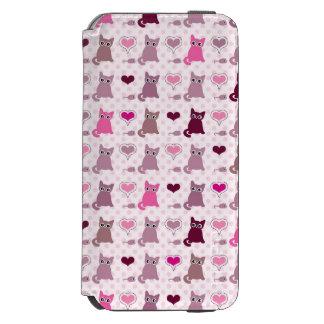 Cute kitten girls pattern iPhone 6/6s wallet case