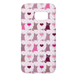Cute kitten girls pattern samsung galaxy s7 case
