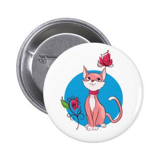 Cute kitten  illustration button