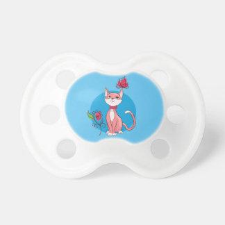 Cute kitten  illustration pacifier