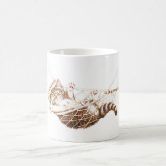 Cute kitten in hammock coffee mug