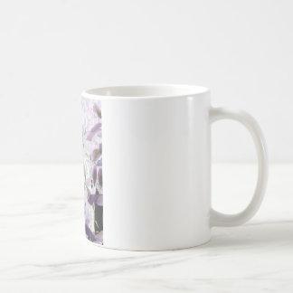 Cute Kitten in the bushes, purple abstract art Coffee Mug