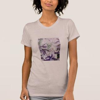 Cute Kitten in the bushes, purple abstract art T-Shirt