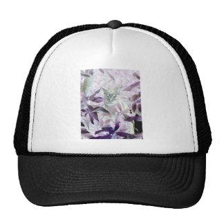 Cute Kitten in the bushes, purple abstract art Trucker Hat