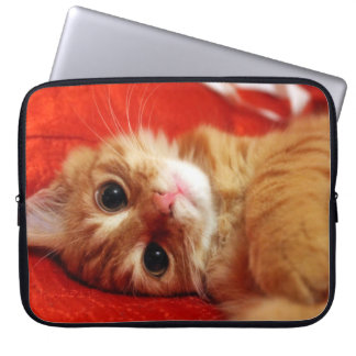cute kitten laptop computer sleeve