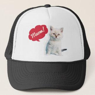 Cute Kitten Meow Caption Trucker Hat