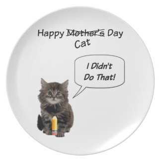 Cute Kitten Mother's Day Plate