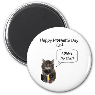 Cute Kitten Mother's Day Round Magnet