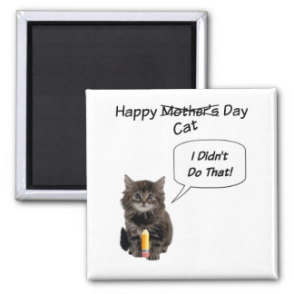 Cute Kitten Mother's Day Square Magnet