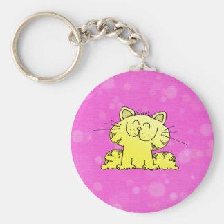 Cute Kitten Pink Room Keychain
