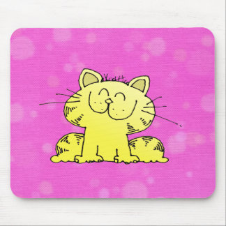Cute Kitten Pink Room Mouse Pad