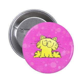 Cute Kitten Pink Room Pinback Button