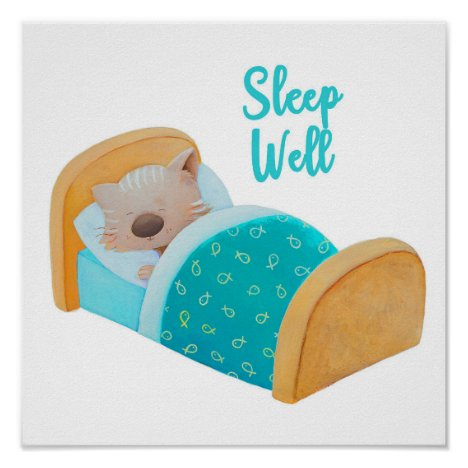 Cute kitten poster by dreamlikeachildstore