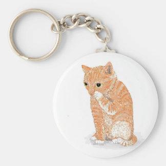 Cute Kitten  Products Basic Round Button Keychain