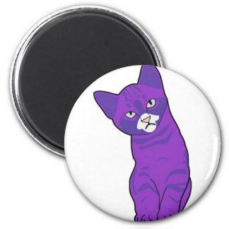 Cute kitten purple magnet