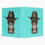 Cute Kitten Sheriff 3 Ring Binder