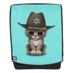 Cute Kitten Sheriff Backpack