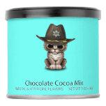 Cute Kitten Sheriff Hot Chocolate Drink Mix