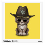 Cute Kitten Sheriff Wall Decal