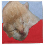 Cute Kitten Sleeping Napkin