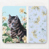 Cute kitten - vintage cat mousepad