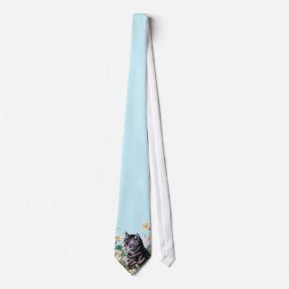 Cute kitten - vintage cat art neck tie